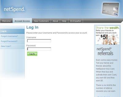 netspend+login+page