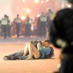 'Riot Kiss' Couple Found