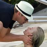 Julianne Hough Poolside Kiss