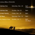 Catholic Christmas Mass Schedule