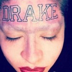 Drake Forehead Tattoo