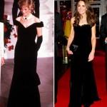 Kate Middleton Black Velvet