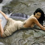 Angelina Jolie Waterfall