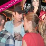 Ashton Kutcher At Brazilian Beer Bash During Demi's Darkest Days