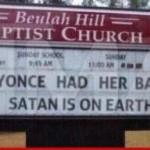 Beyonce Baby Church Vandalism