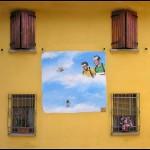 Dozza, Italy Painted Wall