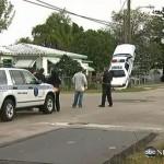 Police Officer J. Brutus Crashes Into Utility Pole