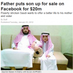 Saudi Man Facebook Sell Son $20 Million
