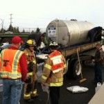 Truck Spills Liquid Fertilizer In Tualatin, Ore